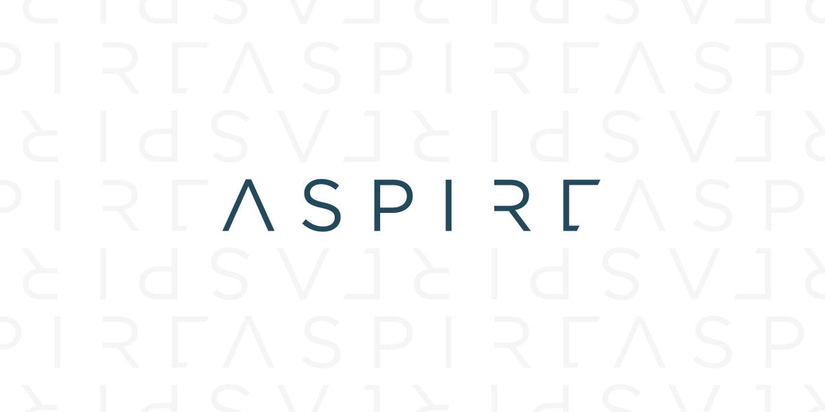 the final Aspire branding treatment